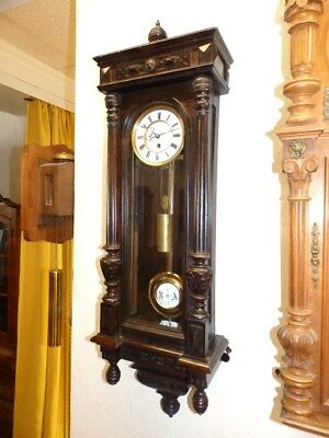 Smal Old Wall Clock Regulator With 1 Weight Dial Diameter 5,1 Inches