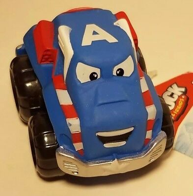 Party Lot of 6 New Marvel Lil Chuck Friends Toy Cars Captain America Favor Prize