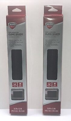 """NEW Lot Of 2 - Auto Drive - Side Window Shade - Cling Shade - 16"""" x 12"""""""