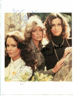 all 3 original Charlie's Angels signed autograph NO RESERVE B1910