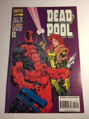 Marvel Comics Deadpool Sins of the Past #3 Siryn Banshee Juggernaut 1994