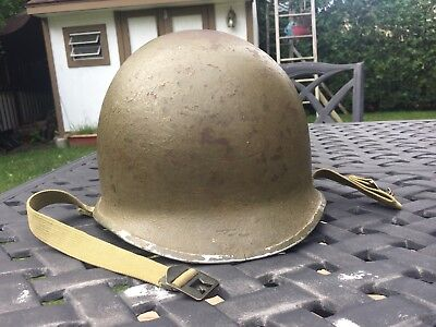 Original WWII Fixed Bale M1 Helmet