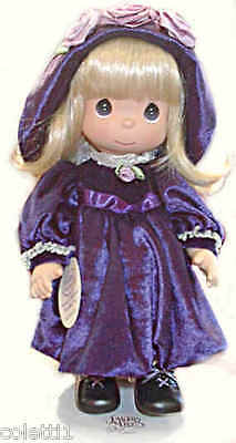 "NEW PRECIOUS MOMENTS DOLL Beautiful ""Violet"" Violets Are Blue #4232 12"" Tall NWT"