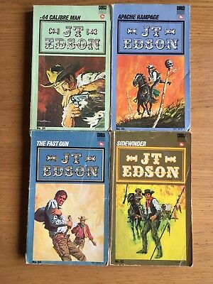 J T Edson Western Cowboy Books Lot Of 4 See Photos For Detail