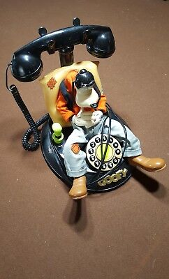 Talking Goofy Telephone Disney Sleeping snoring Touch Button Land Line Phone