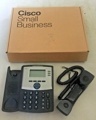 Cisco SPA303 3 Line IP Phone With Box NO Power Adapter Handset Cord included!