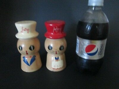 Large 5 INCH Vintage Salty Peppy Chef Salt and Pepper Shakers