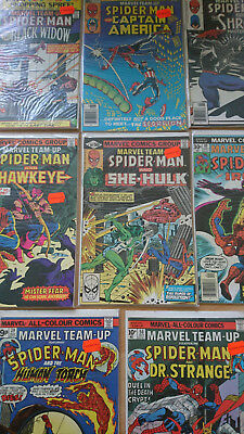10x Marvel Team-Up, Spider-Man Comics, Marvel, Englisch im Top-Zustand