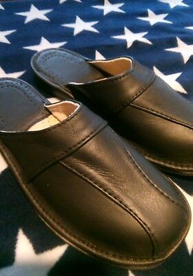 Mens slippers 100% Lather All Size