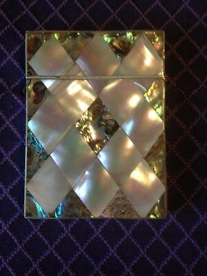 Exceptional Victorian Mother of Pearl/Abalone Calling Card Case. C-1880