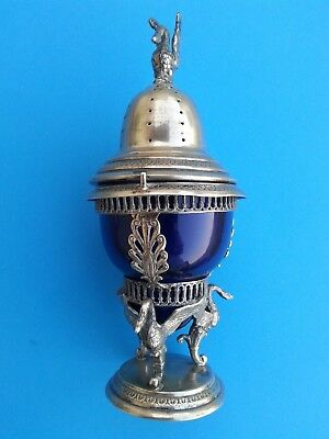 silver C19th shaker or muffinere