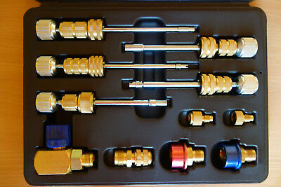Professional Valve Core Tool Set All 5 Sizes R12 & R134A