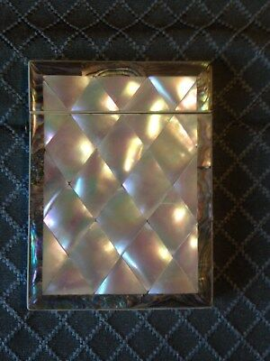 Wonderful Mother of Pearl Calling Card Case With Abalone Shell Border. C-1880