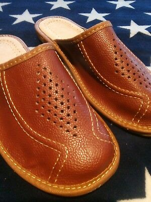 Mens slippers 100% Lather All Size.