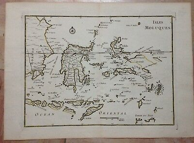 INDONESIA MOLUCCAS AUSTRALIA by LE ROUGE 1767 18e CENTURY ANTIQUE ENGRAVED MAP