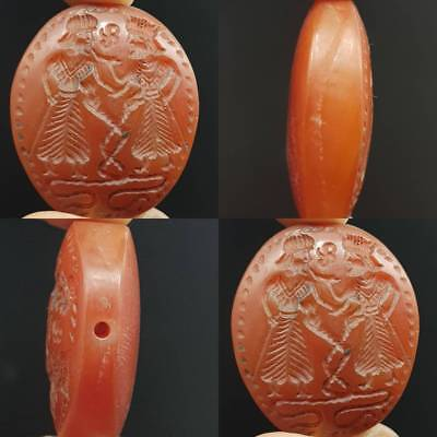 Medieval Royal Old King Seal Agate stone Wonderful Bead    # 4C