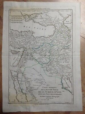 MIDDLE EAST BLACK SEA DATED 1781 BY BONNE ANTIQUE ENGRAVED MAP XVIIIe CENTURY