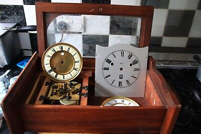 Job Lot Of Old Wall Clocks/& Bits