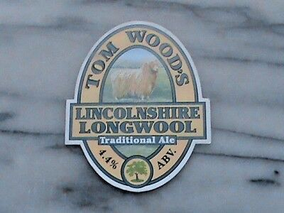 Tom Wood's Lincolnshire Longwool Traditional Ale Real Ale Beer Pump Clip Sign