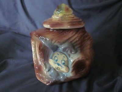 American Bisque 'Tortoise and the Hare' Flasher Cookie Jar - marked 803 USA