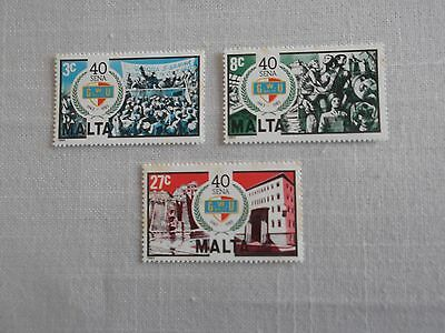 Malta Stamps 1983 - 40Th Anniversary Of The General Workers Union - Set Of 3 Mnh