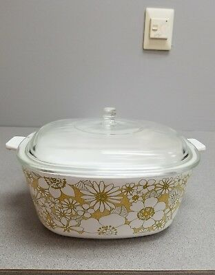 Corning Ware Floral Bouquet Casserole 2.5 Quart with Lid+
