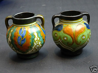 Two Gouda Holland Vases: Perfect