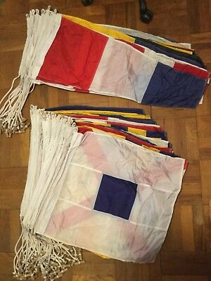 Nautical Signal Flags - 71-flags (two of each letter and number) USED