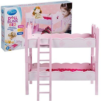 "Wooden Doll Bunk Bed and Bedding (fits American Girl Dolls and Other 18"" Dolls)"