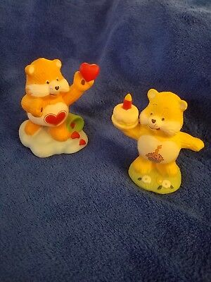Care Bears Ceramic Figurines, Tenderheart Bear & Birthday Bear, Lot of 2