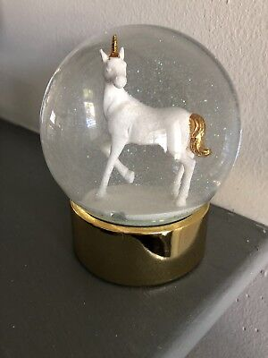 Unicorn Light Up Glitter Snow Globe