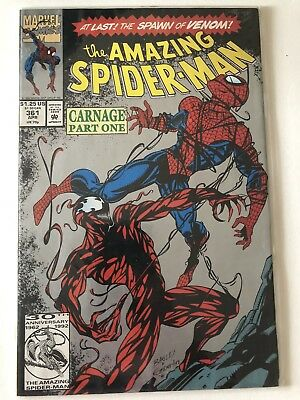 The Amazing Spider-Man #361 (1st appearance of CARNAGE) 2nd Print Silver Cover.