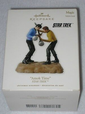 Amok Time Star Trek Captain Kirk And Mr Spock Hallmark Keepsake Ornament 2010
