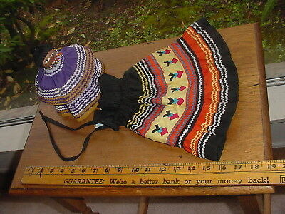 Lot Of Seminole Indian Doll And Doll Dress