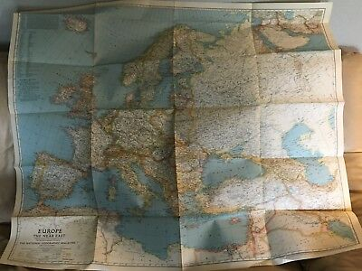 National Geographic Map - Europe & Near East - 34 x 40 - June 1943