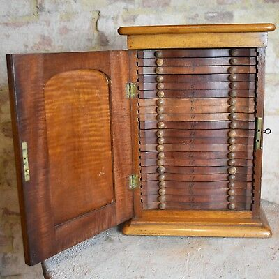 Antique Victorian Wooden Collectors Cabinet Drawers Coin Cabinet Storage