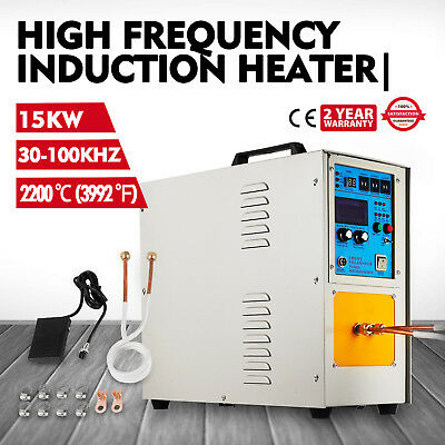 15KW 30-100KHz High Frequency Induction Heater Furnace LH-15A 220V FAST SHIP!
