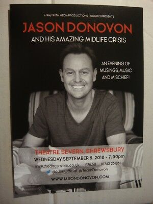 Jason Donovan - A5 Flyer - And His Amazing Midlife Crisis - Theatre Severn..2018
