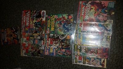 War Of The Worlds Kill Raven Bronze Age Comic Book Lot