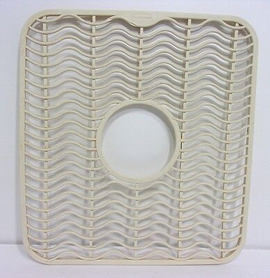 VTG RUBBERMAID ALMOND Waves Protector Sink Mat USA - $9.99 ...