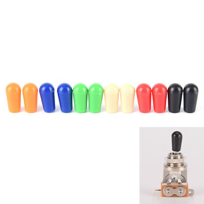 6x 4mm Toggle Switch Tip Caps Colorful for electric Guitar random color G0HZN