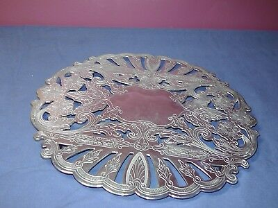 Silver Plated Tray / Platter 10.5 inches - Wallace #7323