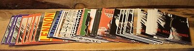 """Lot Of 70 Vintage Card Stock Album Covers 4""""x4"""" Beatles Rolling Stones Rage +"""