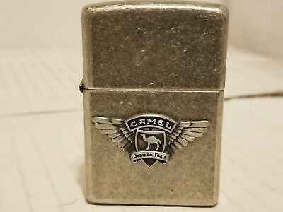 1998 Vintage Silver Camel Zippo Raised Camel With Wings! Rare! Unfired! NR!