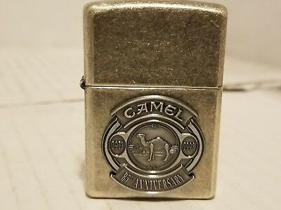 1997 Vintage Zippo Camel 85th Anniversary Pewter Silver Plate! Unfired! NR!...