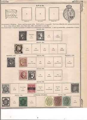 115 VERY OLD SPAIN STAMPS. Imperforates and More. Mint , Used. Low Start.