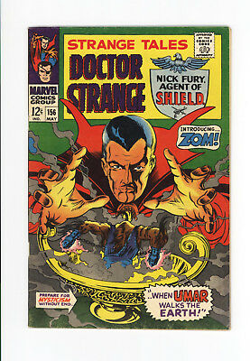 """Strange Tales #156 - Awesome Doctor Strange Cover """"introducing Zom!"""" 1967"""