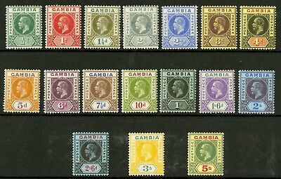 Gambia   1912-22  Scott # 70-86  Mint Lightly Hinged Set