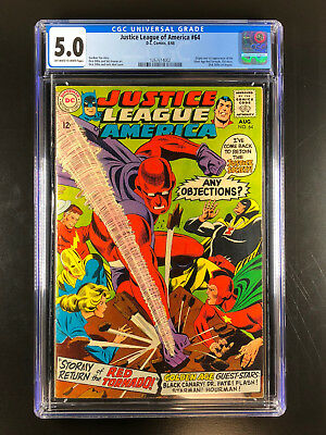 Justice League of America 64 CGC 5.0 1st Silver Age app Red Tornado