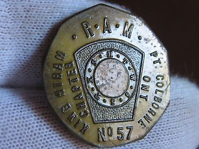 Nine-sided Masonic Penny from Canada!  No Reserve!